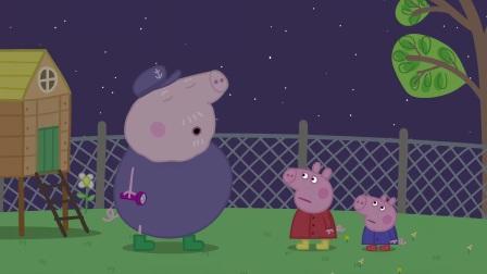 粉红猪小妹:原来有些动物晚上才出来,佩奇跟着爷爷长见识