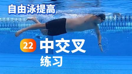 【自由泳提高】22.中交叉练习|梦觉教游泳