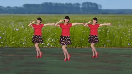 微妙广场舞《马缨花情歌》原创简单好看步子舞附分解教学