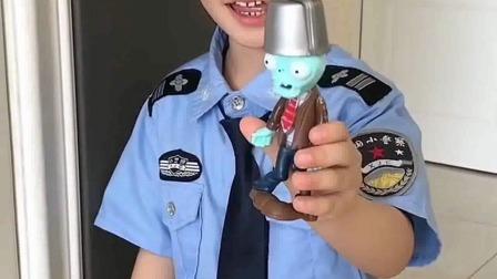 少儿益智:哇,小警察,你的玩具,好好看,这是什么呀