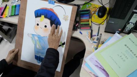 画一个可爱卡通僵小宝
