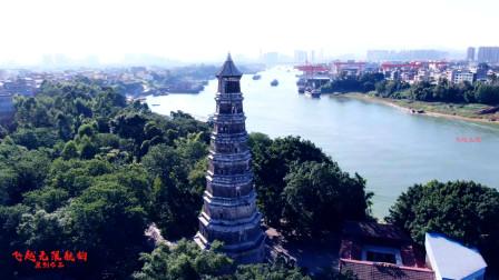 广西贵港一座风水塔,历史曾遭过无数次洪水雷电至今依然保存完好