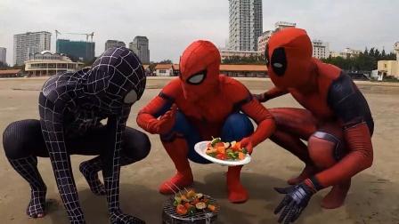 蜘蛛侠:蜘蛛侠拿美食诱惑毒液!
