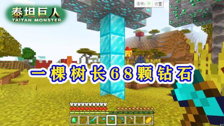 泰坦巨人24:豪华钻石树,砍完获得68颗钻石,而且遍地都是!