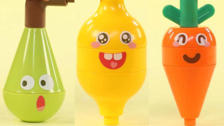 蔬菜水果也是有情绪的,适合1到3岁的小孩儿童积木玩具