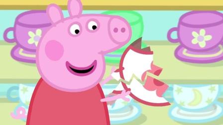 小猪佩奇:佩奇一家出去玩,遇到公牛先生修路,太耽误时间了