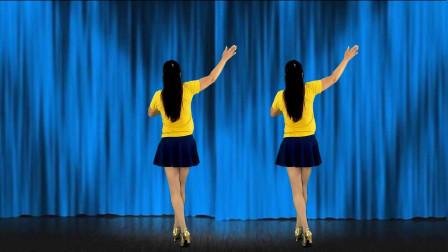 最新优美柔情32步广场舞《相思夜难眠》背面演示