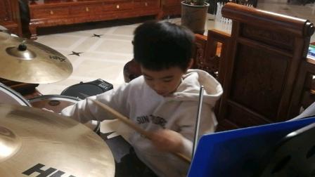 项坤8岁🇬🇧爵士鼓rock school六级考级曲目6