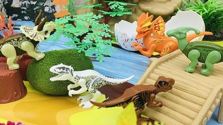 双脊在岛屿上发现了好多恐龙朋友
