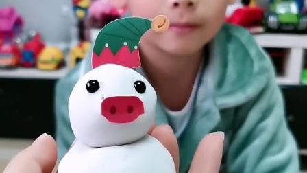 童年趣事:好奇怪的雪人啊