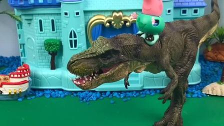 乔治终于找到恐龙先生了