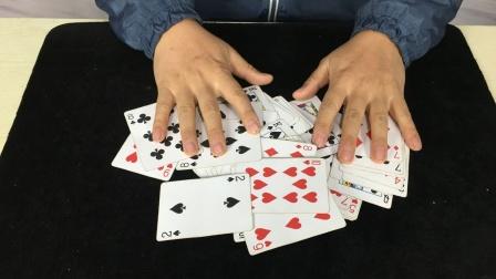 无论你把牌洗得再乱,我都能抽出最大的牌!学会后逗朋友玩