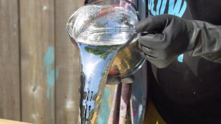 水银的表面张力有多强?慢镜头下观察水银坠落,被画面惊艳到了