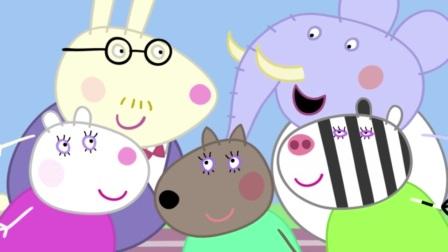 小猪佩奇:猪爸爸还当老师了,教孩子们学球,还挺厉害呢