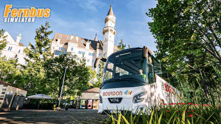 长途客车模拟 #227:前往新天鹅城堡 试玩免费DLC巴伐利亚城堡   Fernbus Simulator