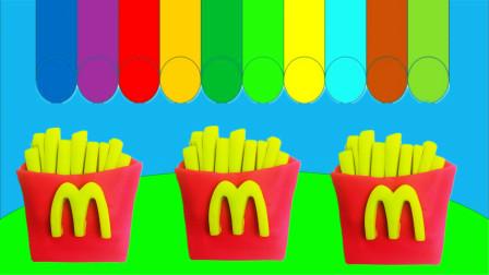 培乐多彩泥创意diy麦当劳薯条,儿童益智启蒙认知
