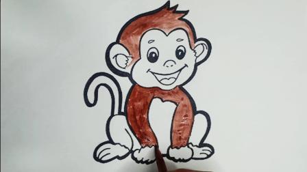 画一只爱笑的小猴子