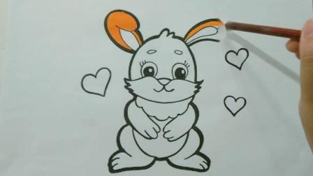 教你画可爱的小兔子