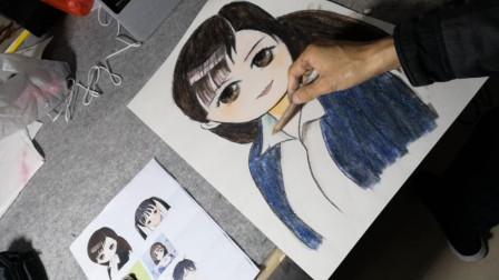 画一个可爱小女孩