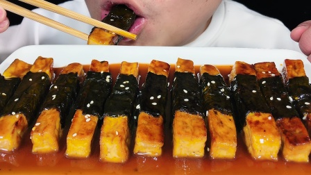 吃日式照烧豆腐,听不一样的咀嚼音!