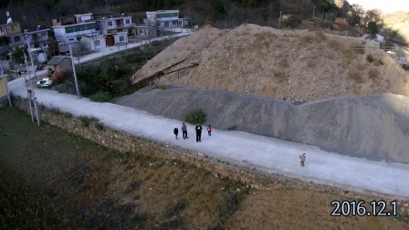 航拍丹凤县保定村一组《思乡曲》2016.12.1#记录农村