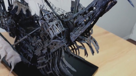 3D打印加勒比海盗亡灵船,新奇创意手工,一起来见识下!