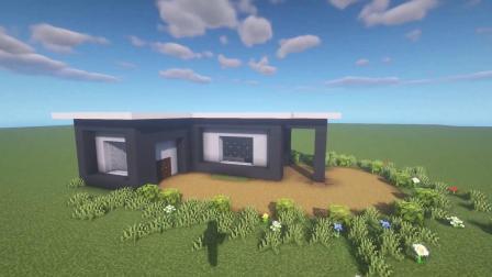 我的世界:教你制作简单的现代别墅,超美夜景!