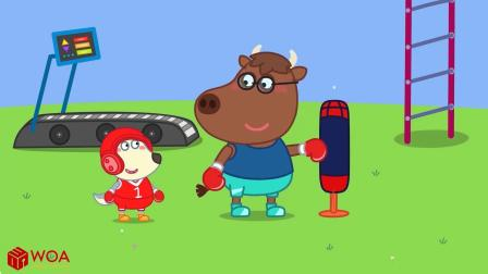 小猪佩奇搞笑版:WWE擂台比赛,灰灰跟小熊谁会胜出呢?