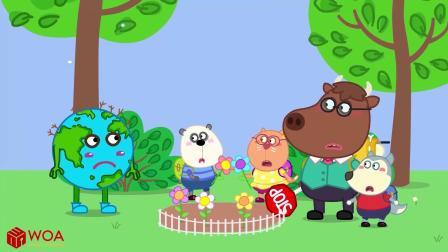 小猪佩奇搞笑版:爱护地球资源,人人有责