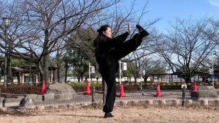 24式太极拳演练者:黄冬梅