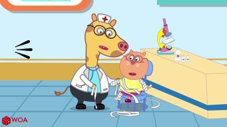 小猪佩奇搞笑版:狗狗灰灰当医生的一天