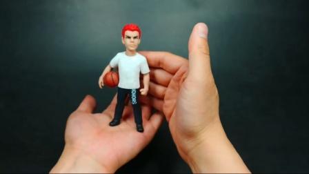 手办:用橡皮泥手工制作灌篮高手里面的一个人物,你认识这是谁吗