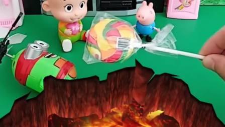 大头和乔治比赛,把自己的玩具都扔了,太不爱惜东西了