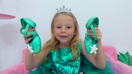 儿童亲子互动,小女孩和芭比女孩穿着同一件公主礼裙!快来看看吧