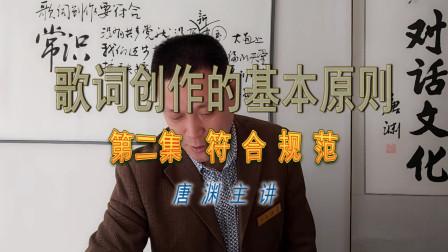 """唐渊谈作词第2集""""符合规范""""尤其是语言规范,讲讲名词、动词、形容词、短语……"""