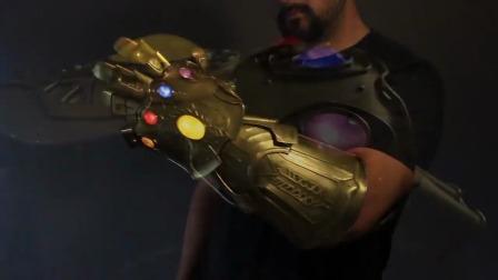 纯铁皮打造灭霸的无限手套,无限宝石闪闪发光,你知道它多重吗?