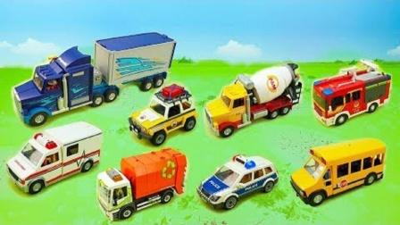 工程车消防车救护车玩具拼搭