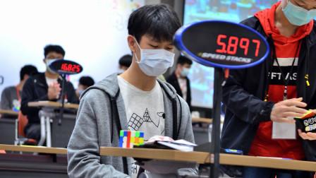 """""""小恶魔""""王楷文三阶比赛平均6.59秒"""