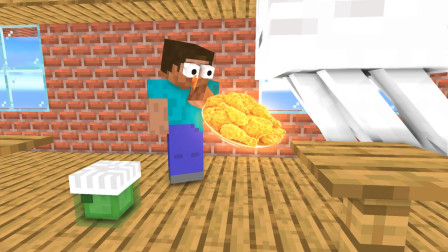 我的世界动画-怪物学院-烹饪挑战-Kramcheese Animations