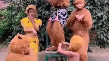 童年趣事:小猴子叫孙悟空石猴大王