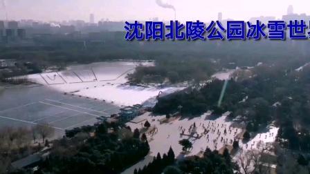 沈阳北陵公园冰雪世界高山雪圈