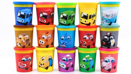 汽车玩具故事:寓教于乐!彩泥桶里装着哪些颜色的汽车?