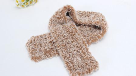 围巾教程 柔软亲肤的编织手法特殊的手编格围巾