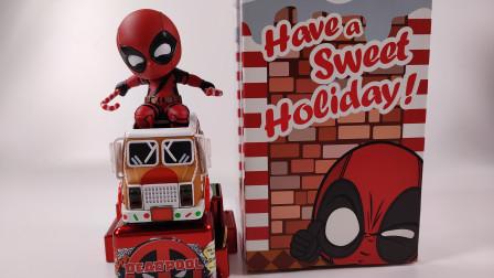 HT电动摇摇车系列《死侍2 》节日特别版圣诞开箱 这款贱贱如何?