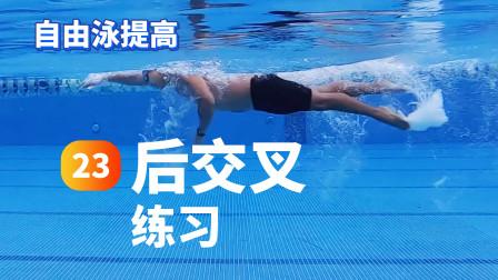 自由泳提高.23.后交叉练习|梦觉教游泳