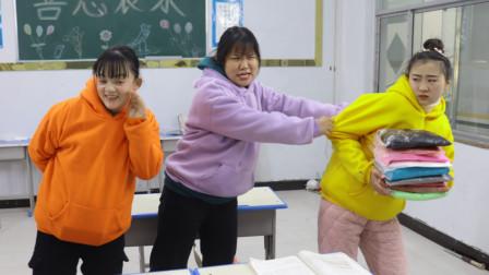 柚柚想玩同学的黏土,让同桌假装转学套路她,同学会上当吗?