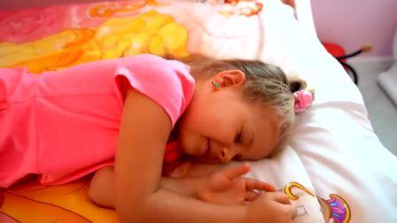 美国时尚儿童,小姐姐累了想睡觉,真可爱呀