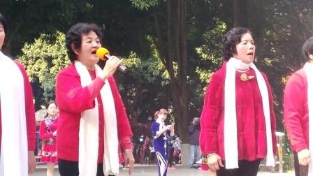 女声小组唱《咱们的领袖毛泽东》《哈达献给毛主席》百色【快乐驿站】歌队