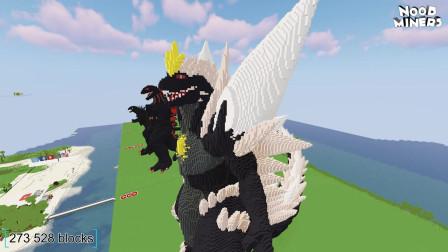 我的世界动画-如何造哥斯拉-NOOB MINERS
