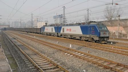 20201226_123129 西局安段HXD2-1031牵引敞车咸阳站2道通过
